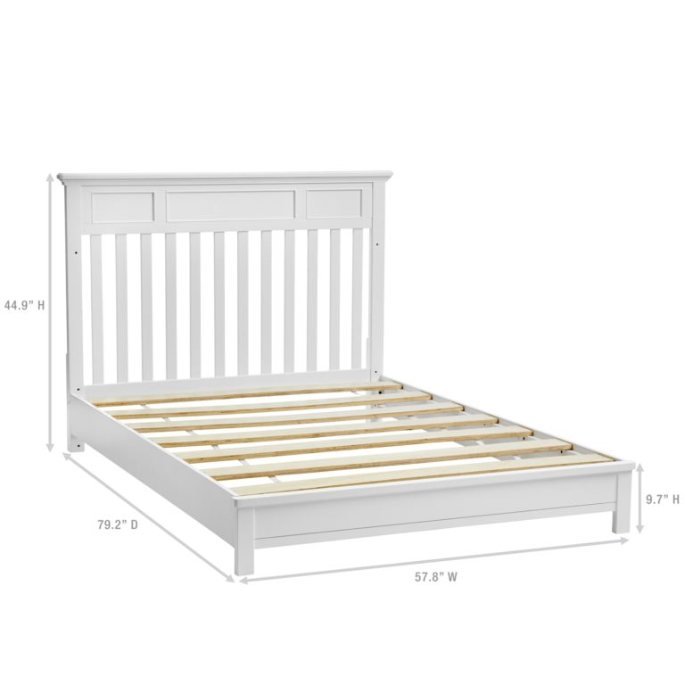 Harper 4-in-1 Full Size Bed Rails - White
