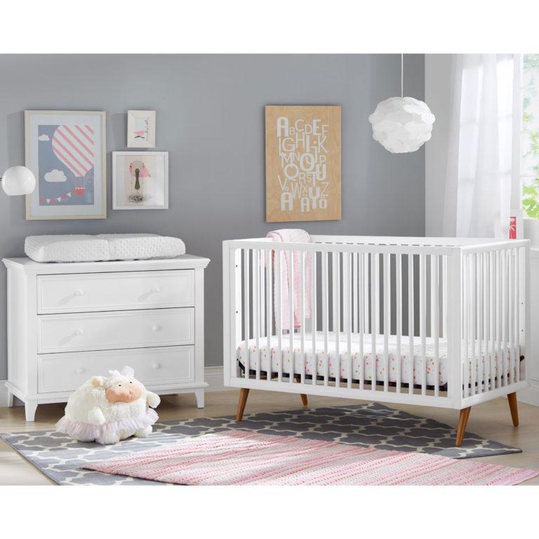 Roscoe Convertible Crib Mid Century Crib Modern Baby Crib Kolcraft
