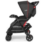 Kolcraft Cloud Plus Double Stroller - Red and Black