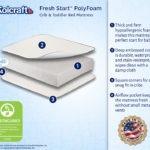 Kolcraft Fresh Start PolyFoam Crib Mattress - White