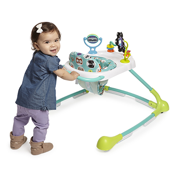 Seated or Walk-Behind Forest Friends Kolcraft Tiny Steps Too Baby /& Toddler Walker