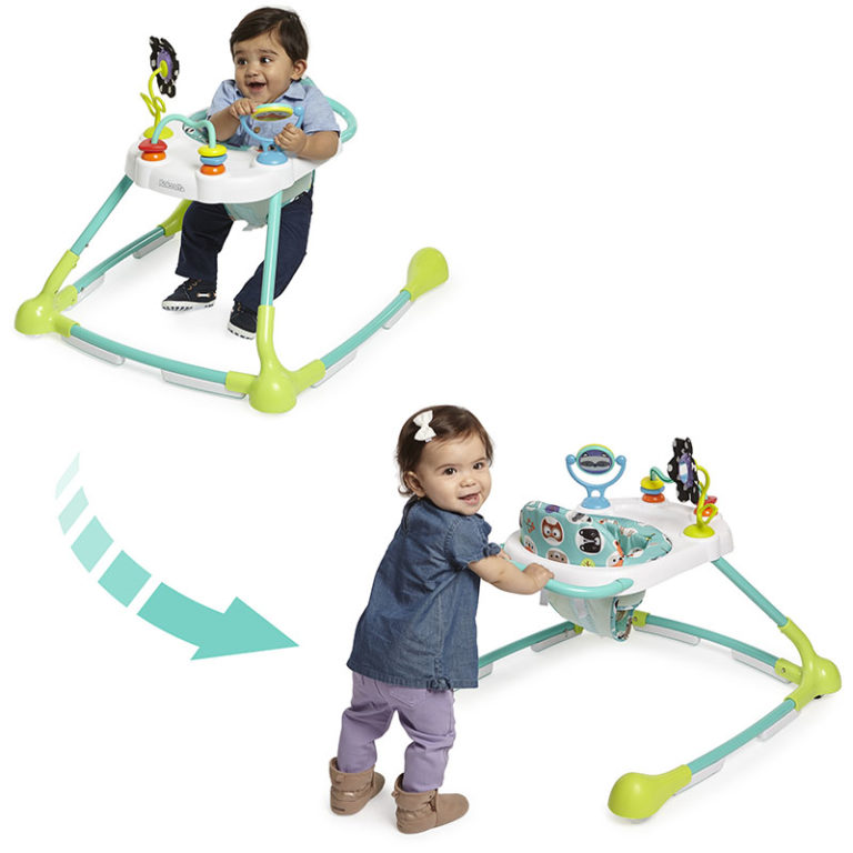 Kolcraft Tiny Steps Too 2-in-1 Activity Walker - White