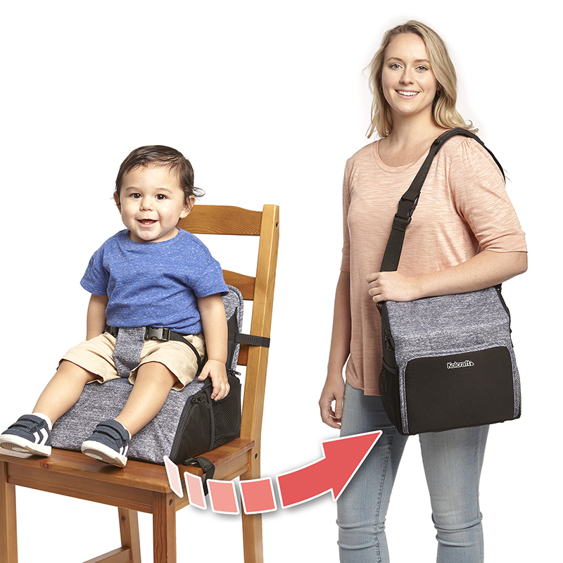 Kolcraft Travel Duo 2-in-1 Portable Booster Seat and Diaper Bag