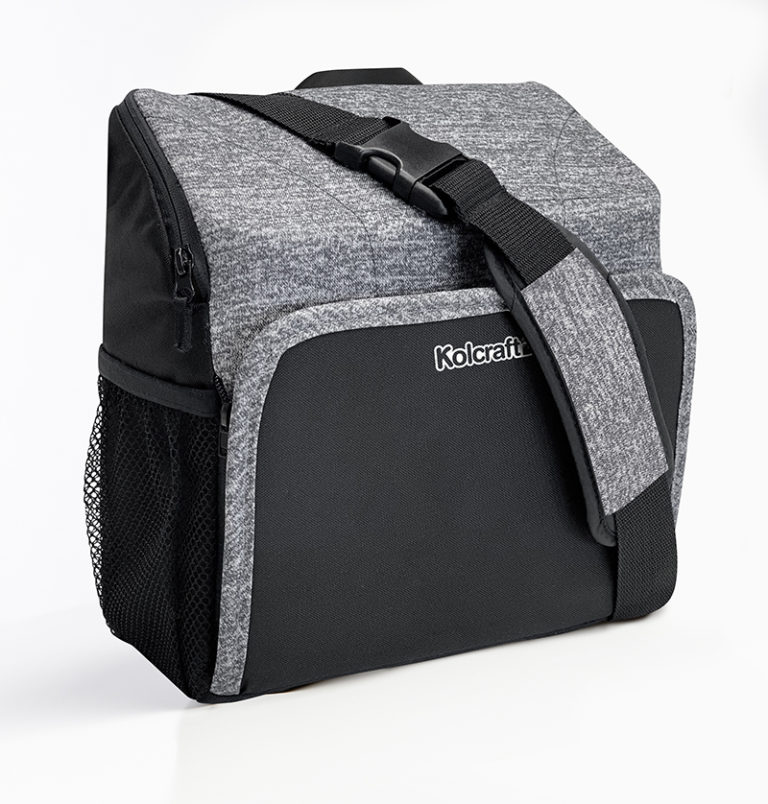 Kolcraft Travel Duo 2-in-1 Portable Booster Seat and Diaper Bag - Space Grey