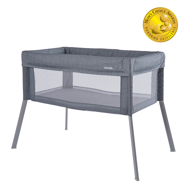Kolcraft® Healthy Lite™ Portable Bassinet with Antimicrobial Sheet Protection - Gray/White Ditsy Triangle